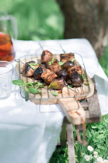 recette de brochettes de porc au barbecue