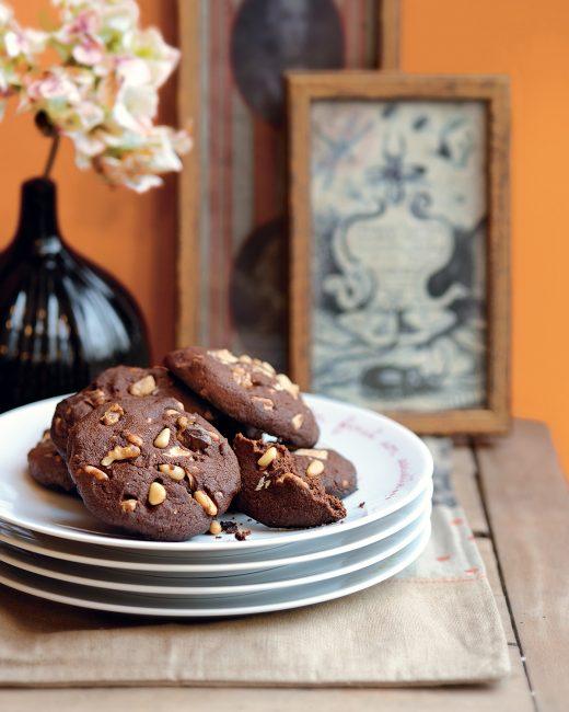 recette au chocolat - Cookies aux 2 chocolats