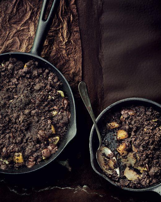 recette au chocolat - Crumble chocolat