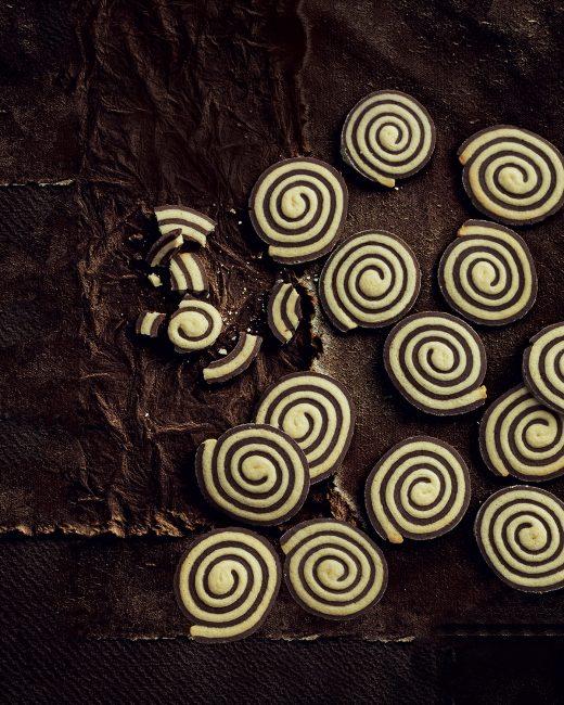 recette au chocolat - Petits sablés en spirale