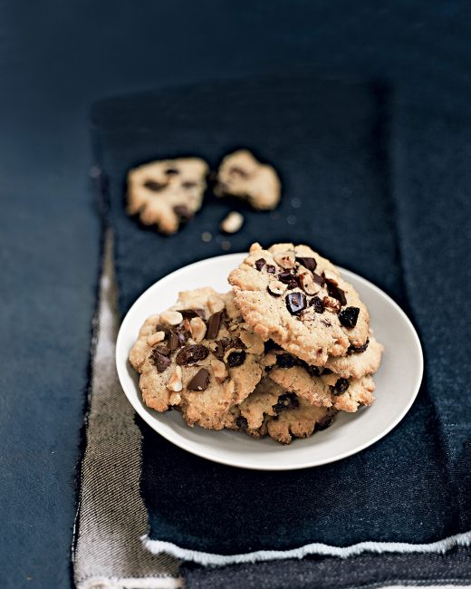 recette au chocolat - cookies aux raisins secs