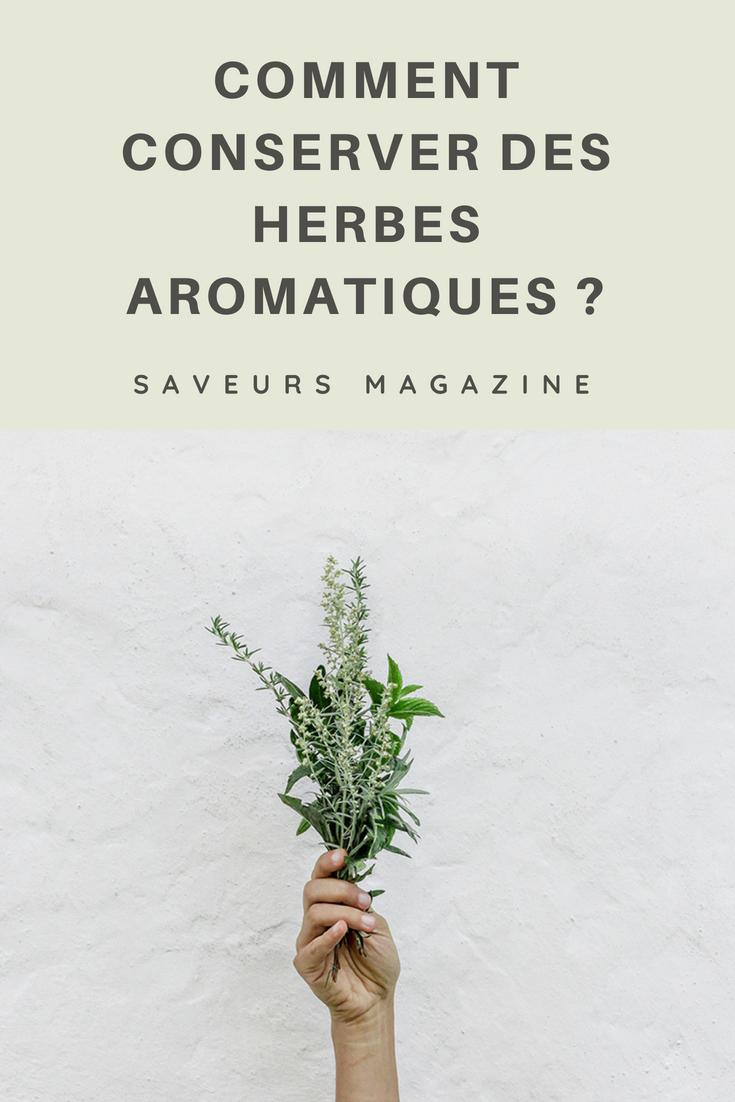 comment conserver des herbes aromatiques