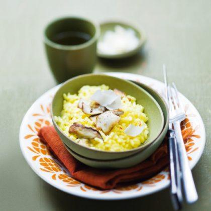 Recette risotto aux cepes