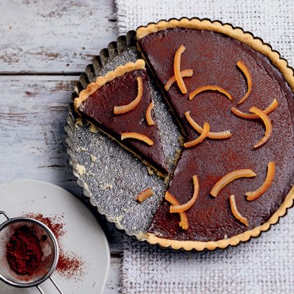 recette de tarte au chocolat à l'orange