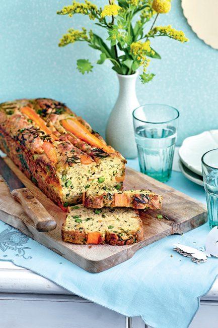 cake aux légumes du printemps