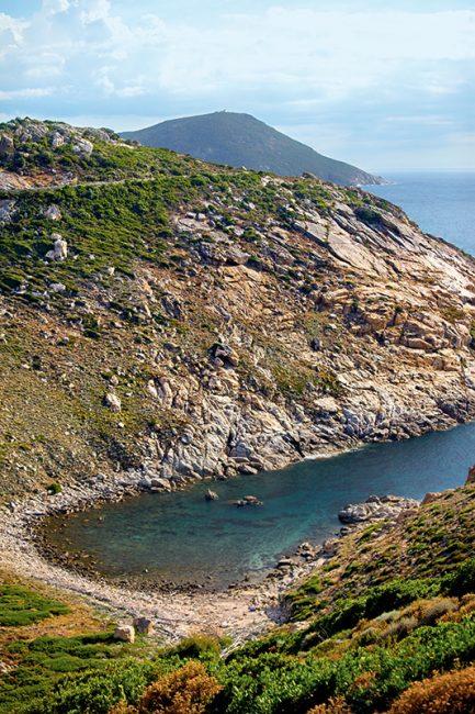 plage côte sauvage en corse, Balagne