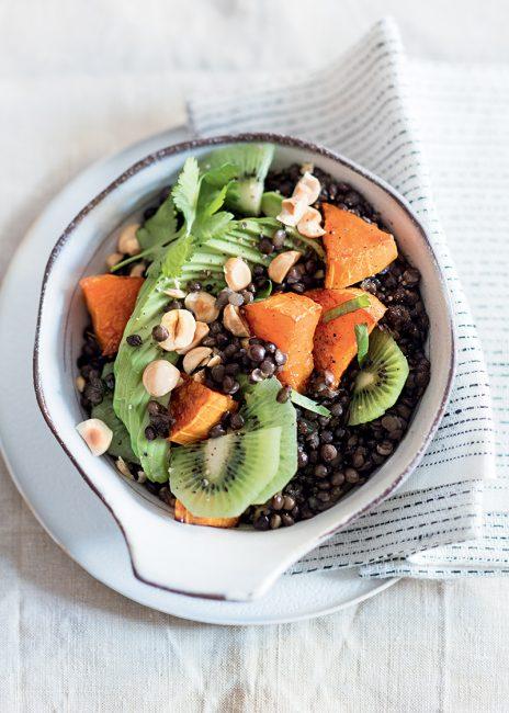 recette de salade composée lentilles kiwi