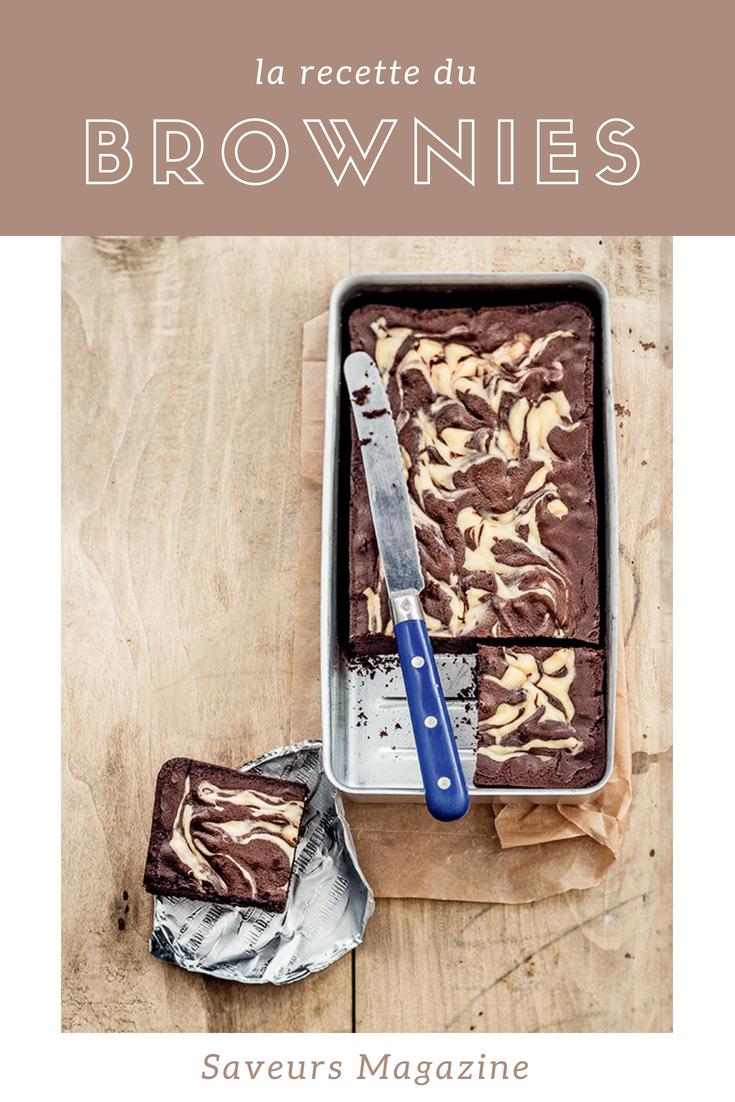 recette de brownies marbré au philadelphia