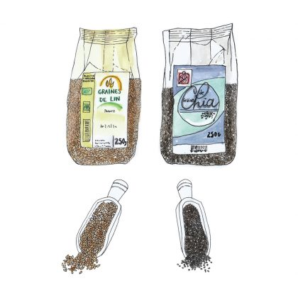 graines de lin ou graines de chia