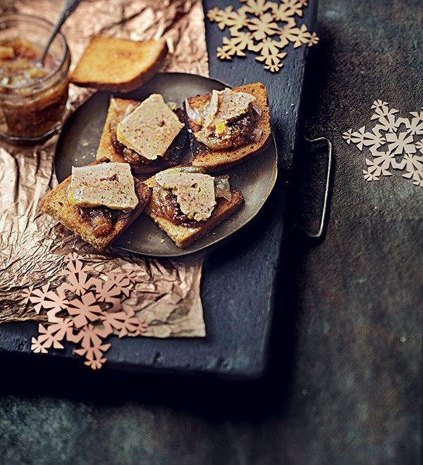 recette de canapés au foie gras