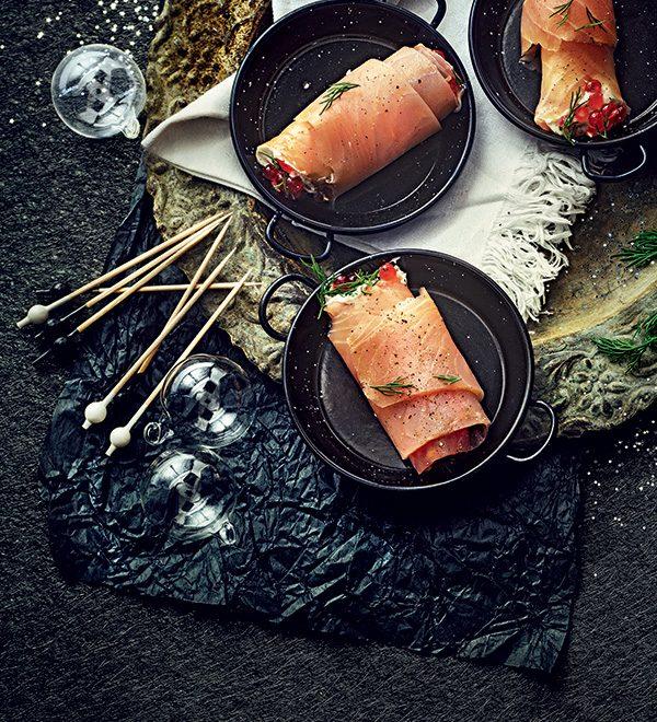 recette rouleaux de saumon