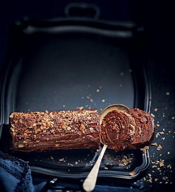 bĉue au chocolat de noel
