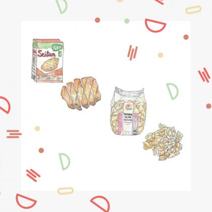 seitan ou protéines de soja