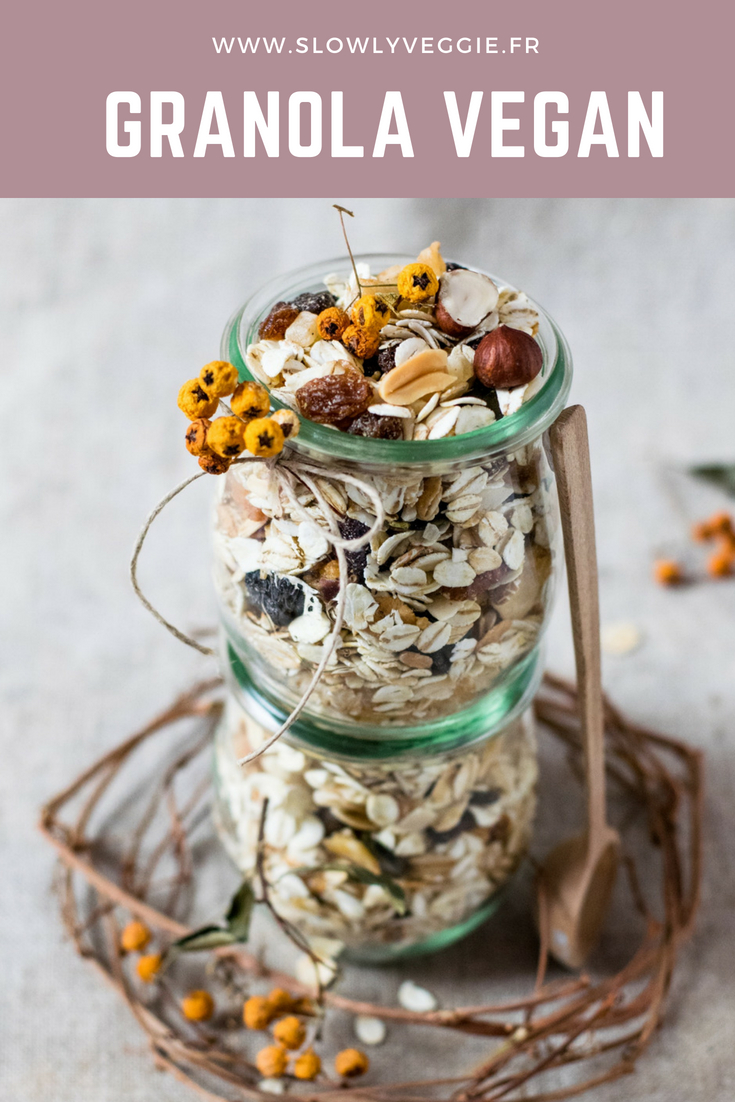 Granola vegan aux fruits secs