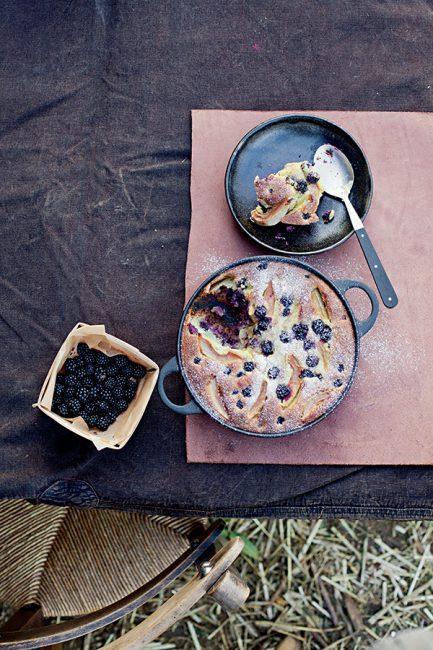 recette de clafoutis aux mûres