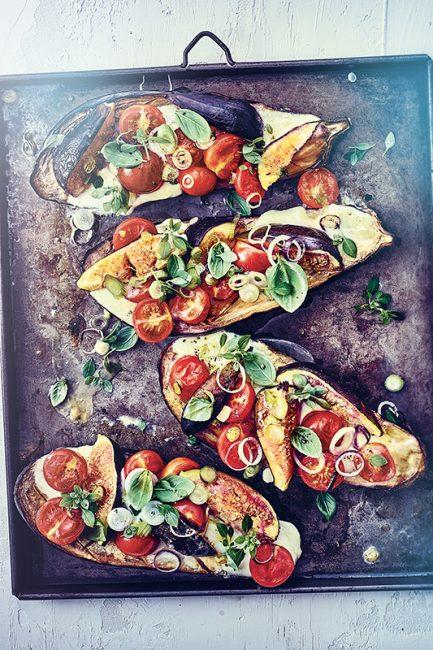 recette d'aubergines grillées aux figues