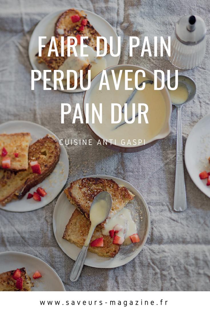 Cuisine anti-gaspi :faire du pain perdu