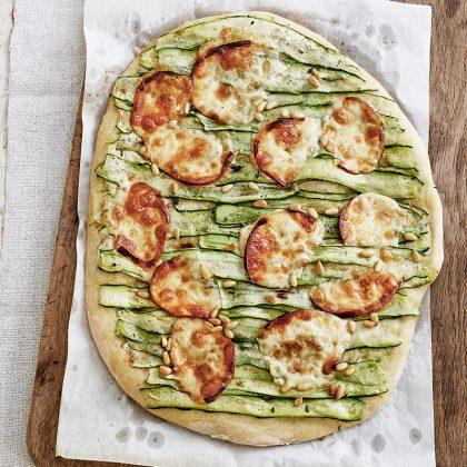 recette de pizza maison aux courgettes
