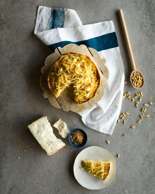 recette tourte pâtes italiennes