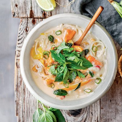 recette de soupe thaï au lait de coco