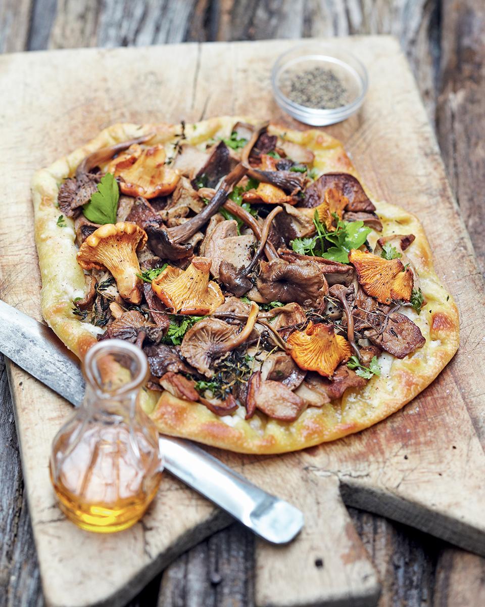 recette pizza maison champignons
