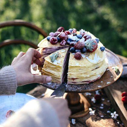 gâteau de crêpes pour la chandeleur