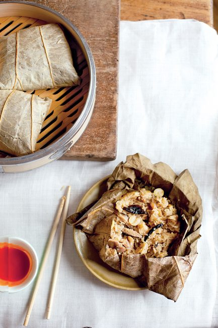 recette de riz gluant en feuille de lotus