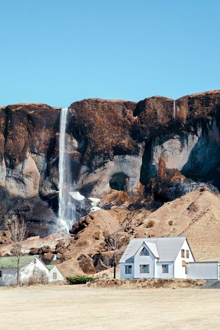 maisons sur la route n°1 en Islande
