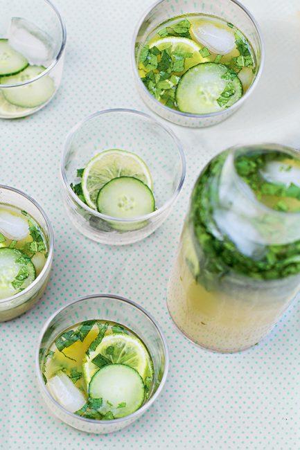 detox water au citron et concombre