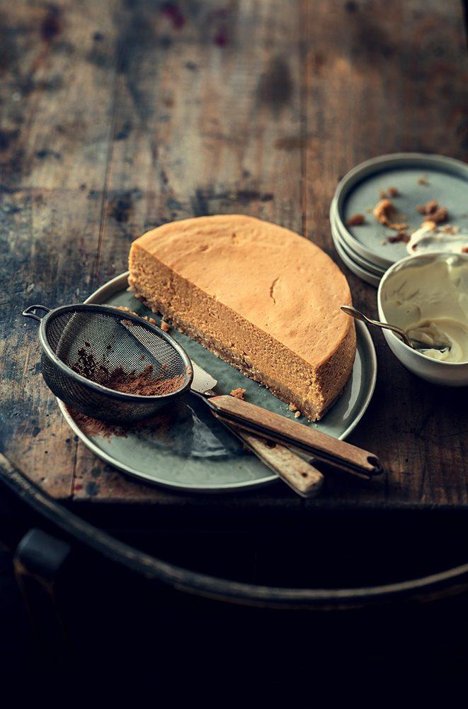recettes d'automne : un Cheesecake au potiron
