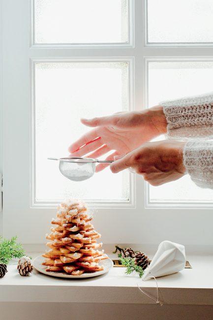 Gâteau de Noël : gâteau en forme de sapin