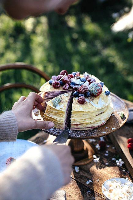 recette de gâteau de crêpes pour la chandeleur