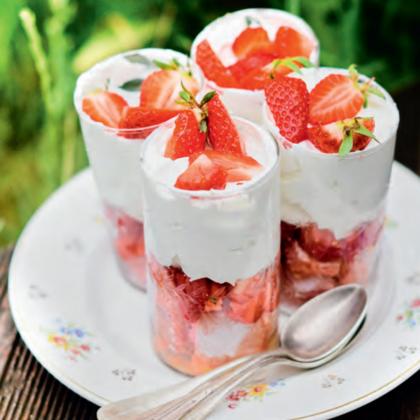 recette de trifle aux fraises