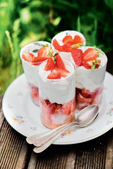 recette de trifles aux fraises