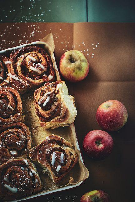 recette de roulés aux pommes cannelle