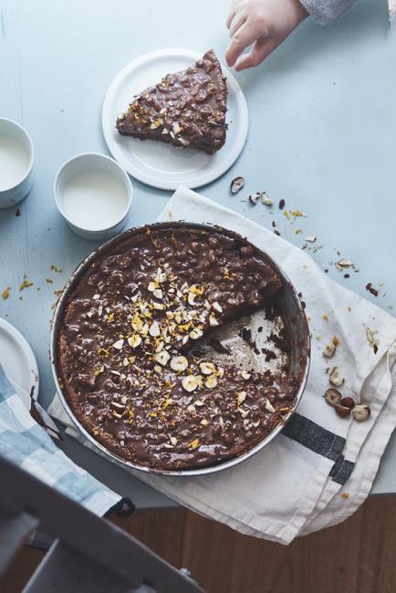 recette facile de gâteau cacao orange