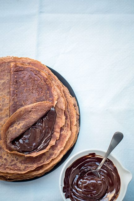 recette de crêpes au chocolat pour la Chandeleur