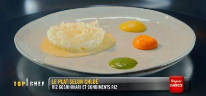Le riz Koshihikari et ses condiments de Chloé Charles, crédit M6