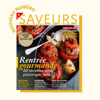 le nouveau numéro de Saveurs Magazine